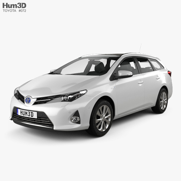 3D model of Toyota Auris Touring Hybrid 2013