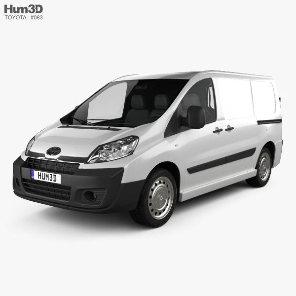 3D model of Toyota ProAce Van L1H1 2012