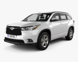 3D model of Toyota Highlander 2014