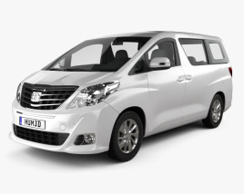 3D model of Toyota Alphard 2012