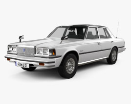 3D model of Toyota Crown sedan 1979