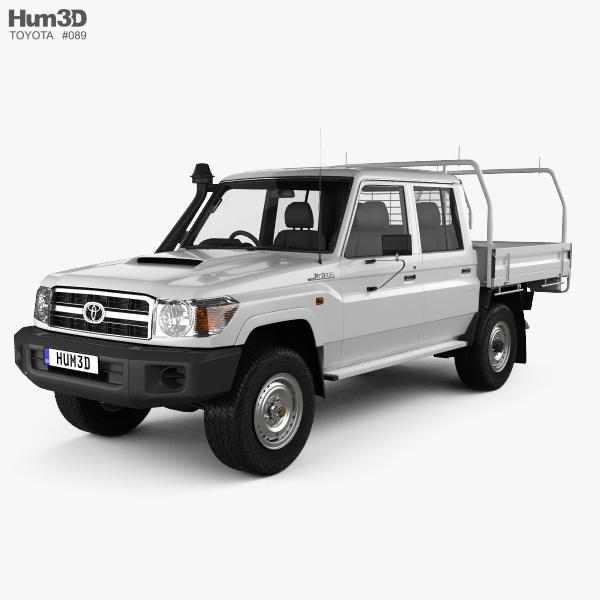 Toyota Land Cruiser (J70) Double Cab Pickup 2012 3D model
