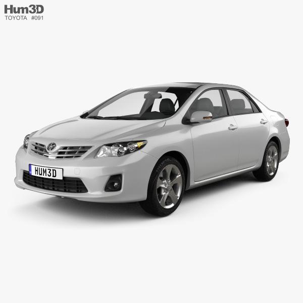 Toyota Corolla (E140) sedan EU 2012 3D model