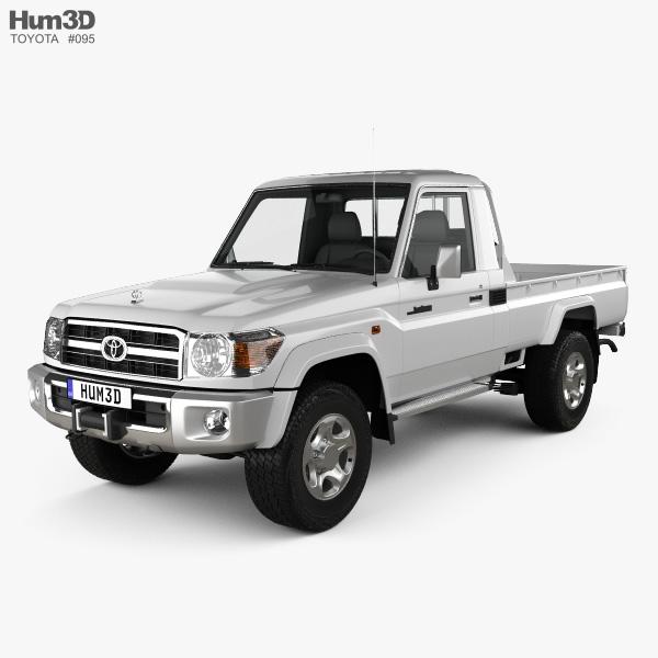 Toyota Land Cruiser (J79) Single Cab 2007 3D model