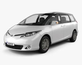 3D model of Toyota Previa 2013