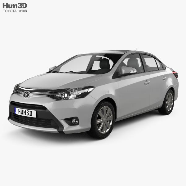 Toyota Yaris sedan 2014 3D model