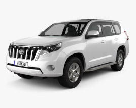 3D model of Toyota Land Cruiser Prado (J150) 5-door 2014