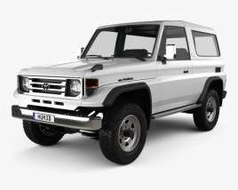 3D model of Toyota Land Cruiser (J70) 3-door 1990