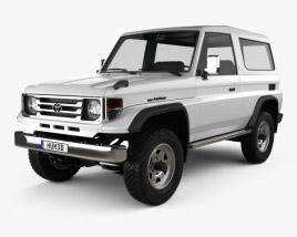 Toyota Land Cruiser (J70) 3-door 1990 3D model