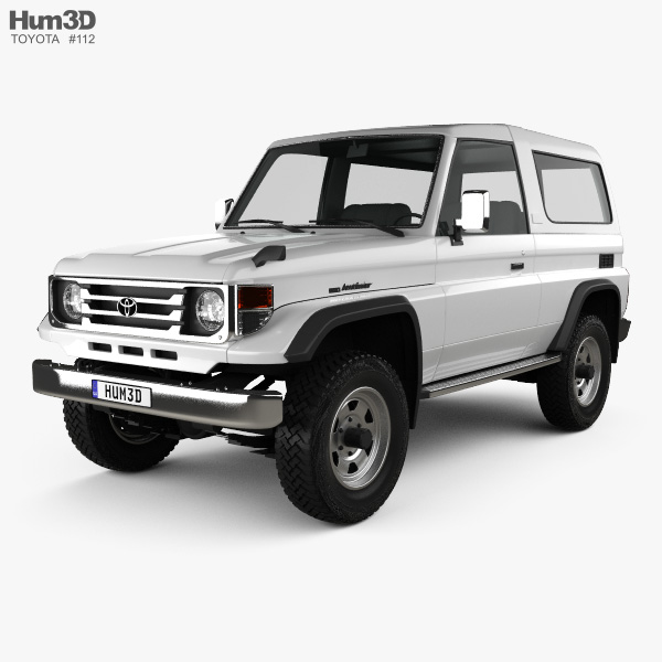 Toyota Land Cruiser (J70) 3-door 1990 3D model