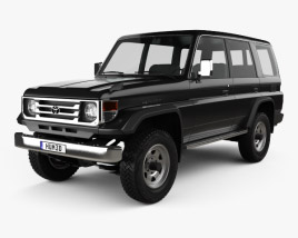 3D model of Toyota Land Cruiser (J70) 5-door 1990