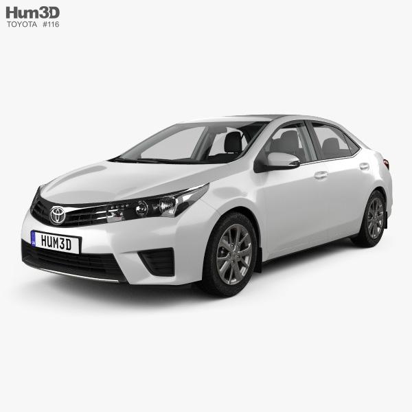 Toyota Corolla EU with HQ interior 2014 3D model