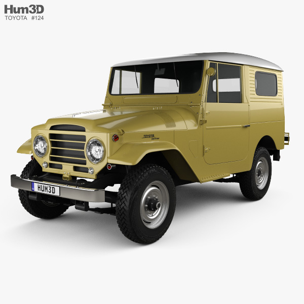 Toyota Land Cruiser (J20) hardtop 1955 3D model