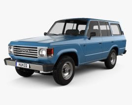 3D model of Toyota Land Cruiser (J60) 1980