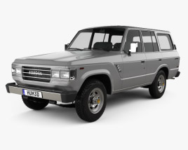 3D model of Toyota Land Cruiser (J60) US 1987