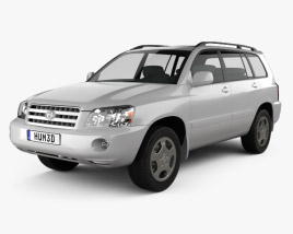 3D model of Toyota Highlander (XU20) 2003