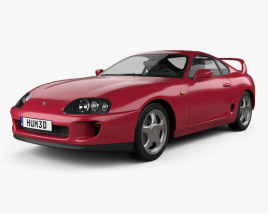3D model of Toyota Supra 1993
