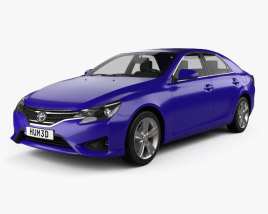 3D model of Toyota Mark X (Reiz) 2012