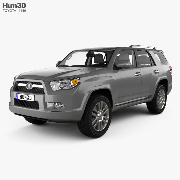 3D model of Toyota 4Runner with HQ interior 2011