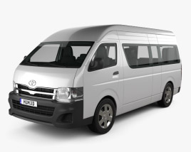 3D model of Toyota HiAce Super Long Wheel Base with HQ interior 2012