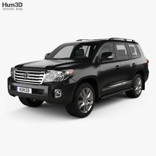 Toyota Land Cruiser (J200) with HQ interior 2013 3D model