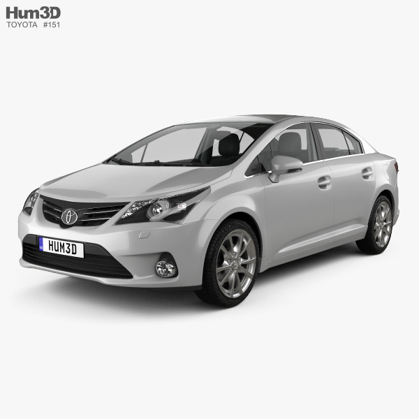 Toyota Avensis with HQ interior 2012 3D model
