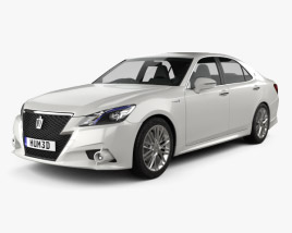 3D model of Toyota Crown Hybrid Athlete 2013