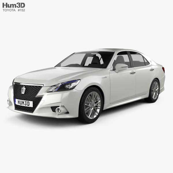 Toyota Crown Hybrid Athlete 2013 3D model