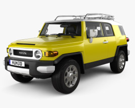 Toyota FJ Cruiser with HQ interior 2010 3D model