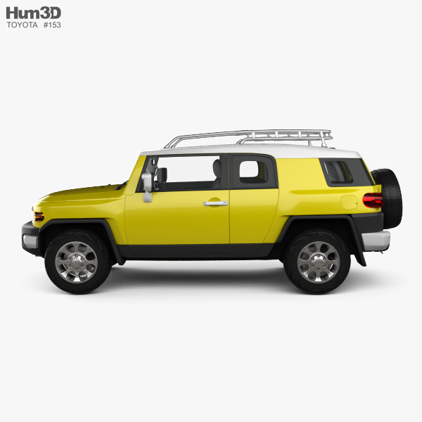 Toyota FJ Cruiser with HQ interior 2010 3D model for