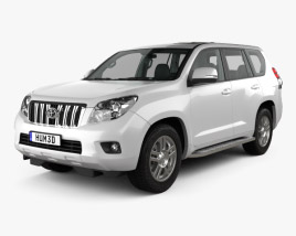 3D model of Toyota Land Cruiser Prado (J150) 5-door with HQ interior 2010
