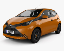 3D model of Toyota Aygo 5-door 2014