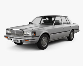 3D model of Toyota Crown (S110) Super Saloon 1982