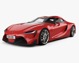 3D model of Toyota FT-1 2014