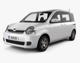 3D model of Toyota Sienta 2011