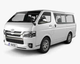 3D model of Toyota HiAce LWB Combi 2013
