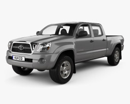 3D model of Toyota Tacoma Double Cab Long Bed 2011