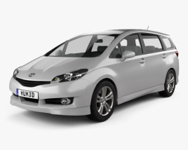 3D model of Toyota Wish 2009