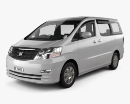 3D model of Toyota Alphard 2002