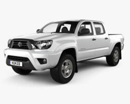 3D model of Toyota Tacoma Double Cab Short Bed 2012