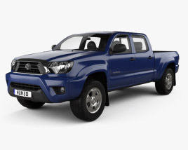 3D model of Toyota Tacoma Double Cab Long Bed 2012