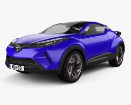 3D model of Toyota C-HR Concept 2014