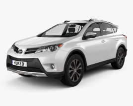 3D model of Toyota RAV4 (XA40) EU-spec 2013