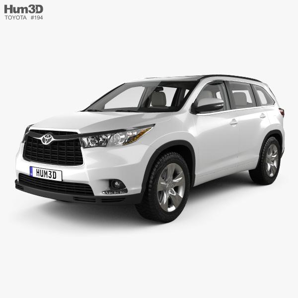 Toyota Highlander with HQ interior 2014 3D model