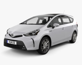 3D model of Toyota Prius Plus 2015