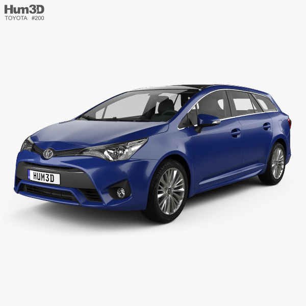 Toyota Avensis (T270) wagon with HQ interior 2016 3D model