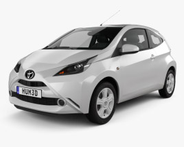 3D model of Toyota Aygo 3-door 2014