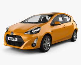 3D model of Toyota Prius C 2015