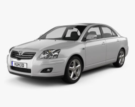 3D model of Toyota Avensis sedan 2006