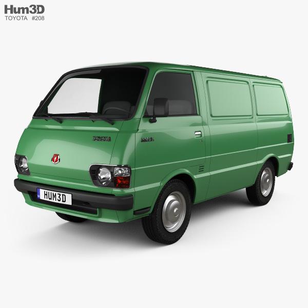 Toyota Hiace Panel Van 1977 3D model